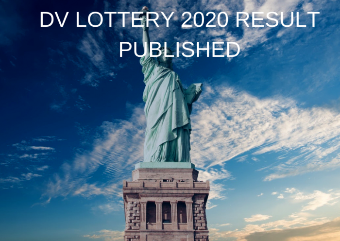 DV LOTTERY 2020 RESULT PUBLISHED