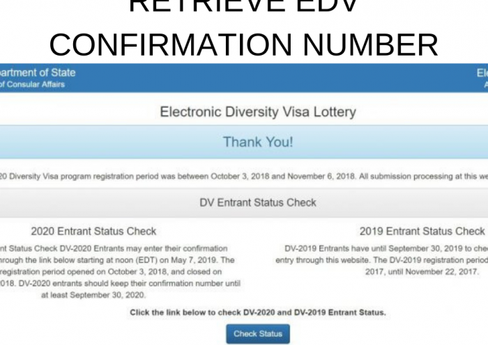 RETRIEVE EDV CONFIRMATION NUMBER