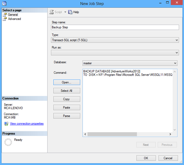 SQL SERVER AUTOMATED BACKUP SETUP