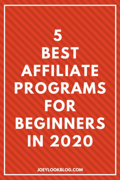 TOP 5 BEST AFFILIATES PROGRAMS TO MAKE MONEY ONLINE 1